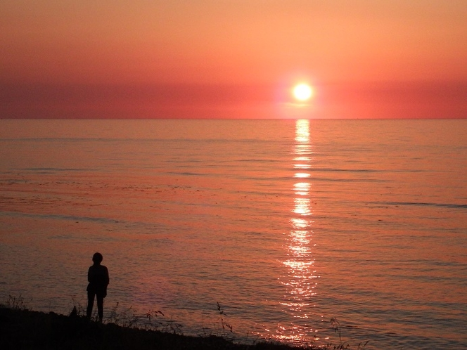 2017年5月17日の夕陽
