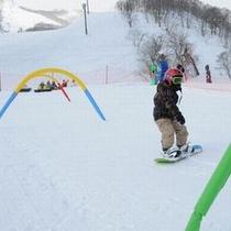 ◆お子様でもスノーボードを楽しみます♪