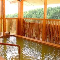 【露天風呂】ニセコの森を眺めながら、遊び疲れた身体を癒やしてください