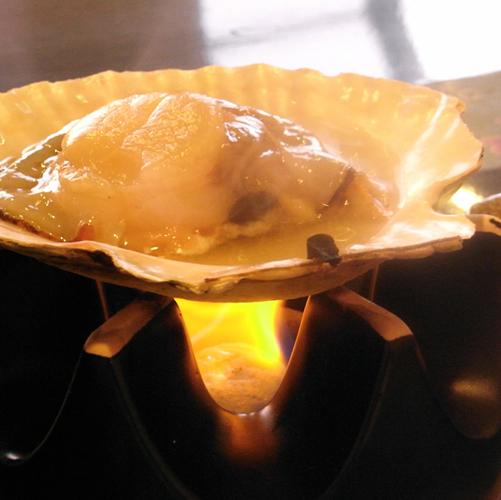 *ホタテの殻焼き