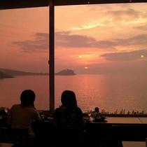 *夕陽を眺めながら・・・