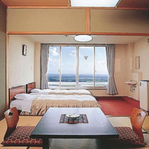 *客室例(関東平野側和洋室)