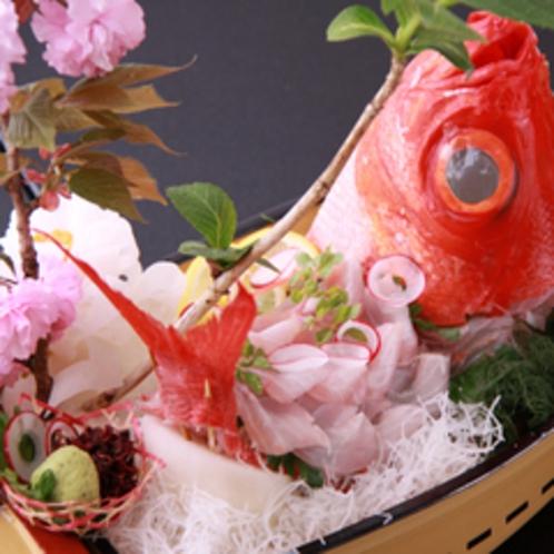 *金目鯛のお造り(一例)