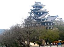 岡山城 別名「烏城(うじょう)」とも呼ばれる岡山城。