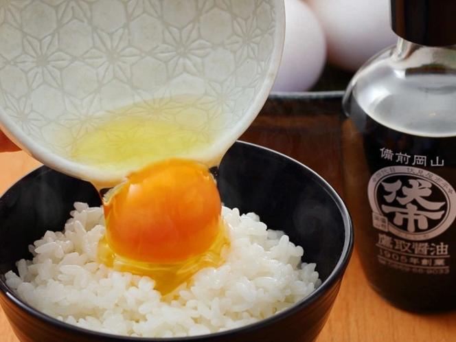 卵は県北美咲町ファームから直送の新鮮な「森のたまご」使用しています。