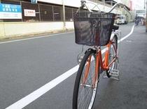 自転車を無料でお貸出しします(3時間まで)♪後楽園などの観光に、お近くにご用のある方はご利用下さい★