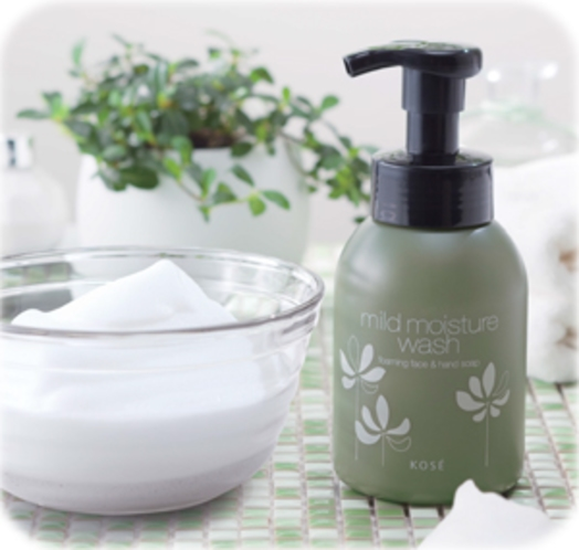 ハンド&洗顔フォームはKOSE製品
