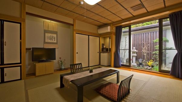 【庭園風呂付客室】Cタイプ 和洋室◆禁煙室