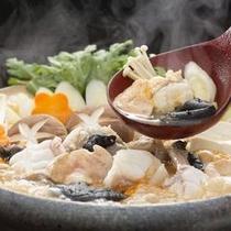 冬季限定のあんこう鍋。コラーゲンたっぷりのあつあつ鍋♪