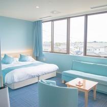 207 あいじろ-藍白- カップルに大人気 シモンズ製キングサイズのベッド