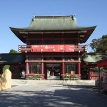 【笠間稲荷神社】当館から46km。日本三大稲荷の一つで、正一位という最高の位の神様です
