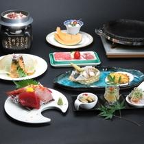 【夏の献立】お料理少なめでお得なプランは大好評。茨城の3種の肉や新鮮な御造里をお楽しみください。