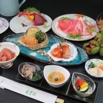 【秋の献立】料理少な目でお得な料金が大好評!茨城のお肉や新鮮な刺身をご堪能下さい。
