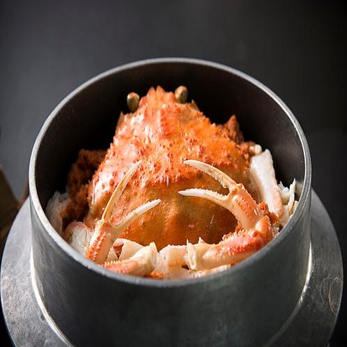 【お品書き(一例)冬期限定】炊きたてのせいこ蟹釜飯をお召し上がりください♪