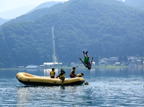 青木湖ラフトピクニック
