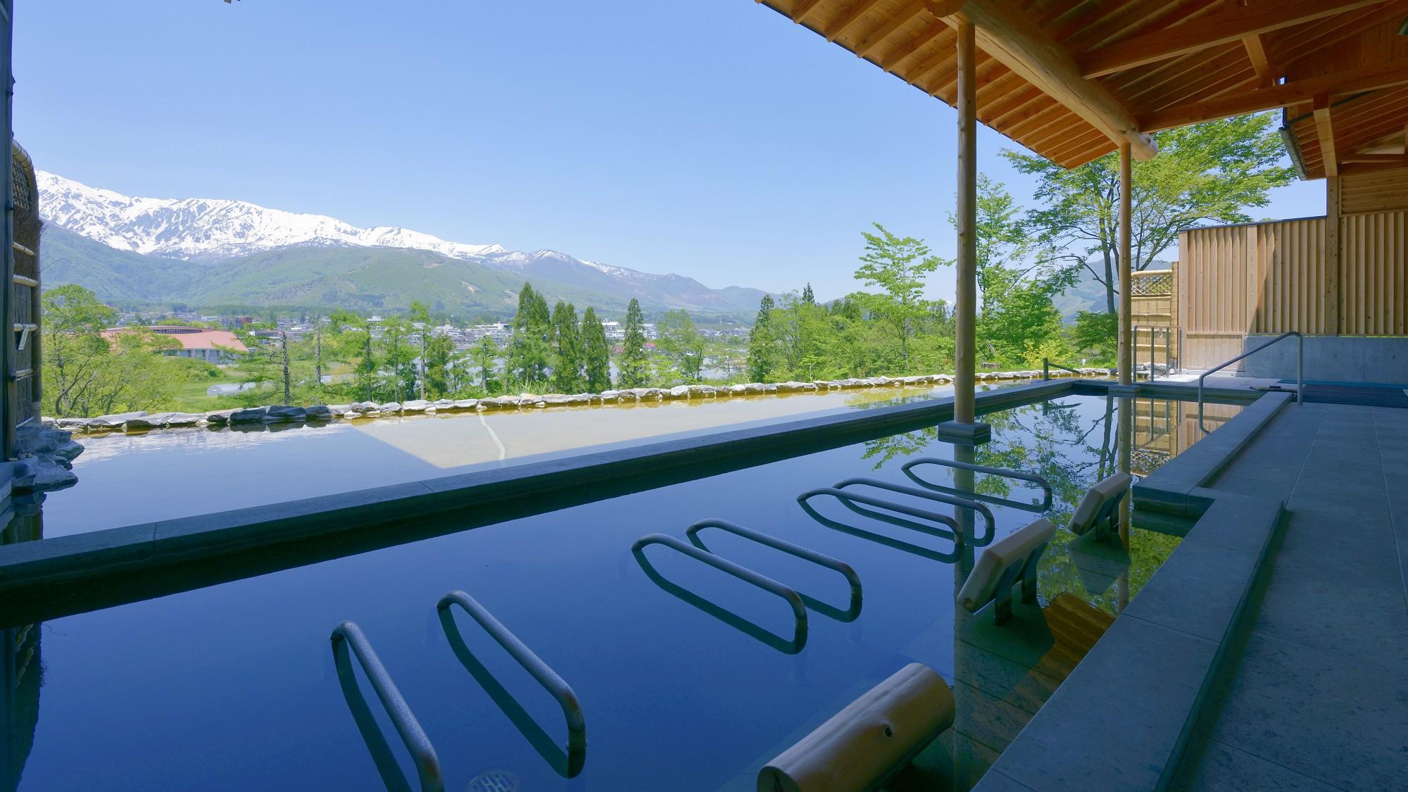 【わらび平の湯】2種類のお風呂は時間により男女入れ替え制です。