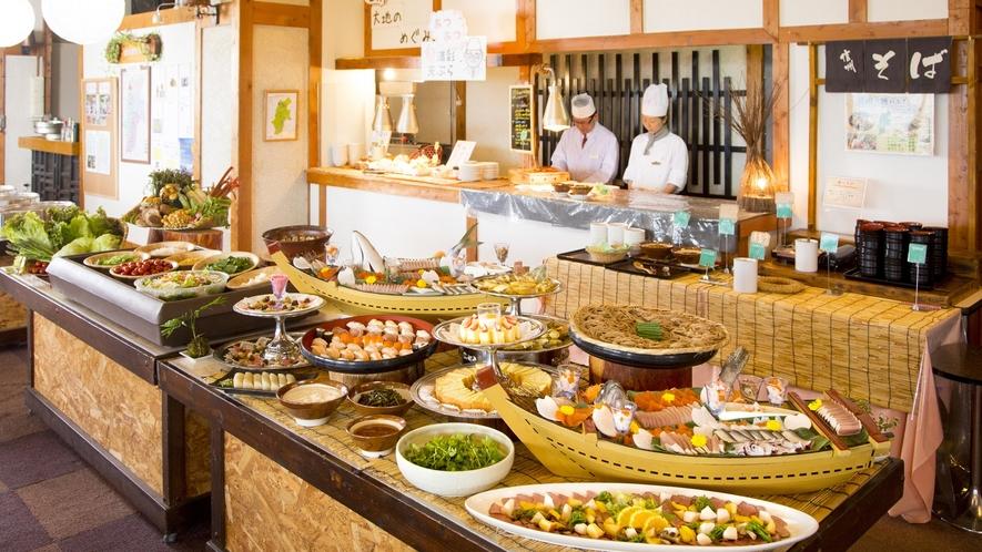 【夕食】信州サーモンを使用した握り寿司一式と、信州サーモンのちらし寿司が日替わりで夕食に登場