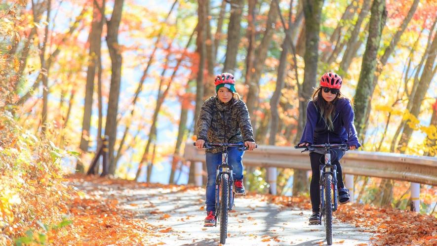 【MTBファンライド】青木湖湖畔をマウンテンバイクに乗り紅葉を見ながら回ってみませんか?
