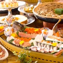 【夕食】長野県だけど、お刺身美味しいね!って言って頂けるよう、仕入れにも拘っています。