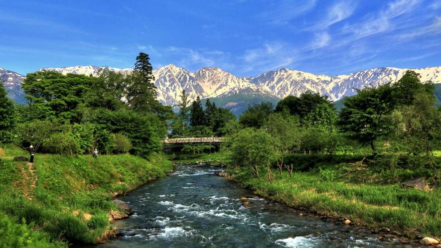 【夏】日本のスイスと聞いて笑ったことがありますが、住んだら本当にそう思う。大出吊橋・歩20分散歩に