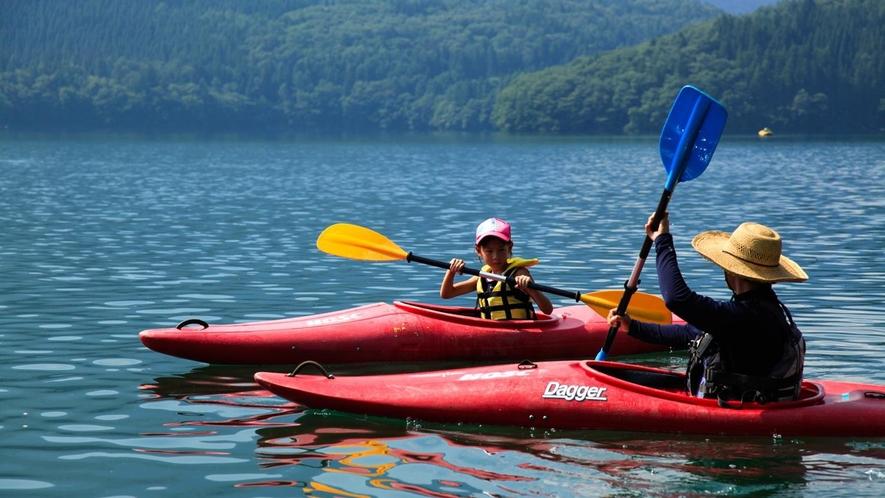 【青木湖カヤック】とても楽しくってきっと病み付きになること間違いなし!