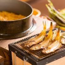 【朝食】こだわりのお米「安曇野産のコシヒカリ」の美味しさを楽しむおかずも沢山。
