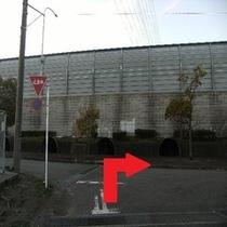 ホテルから第2駐車場までの道順③