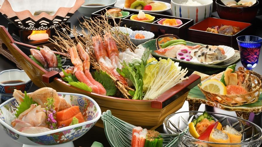 【グルメプラン】山形牛フィレステーキと新鮮海鮮しゃぶしゃぶコース(1泊2食)