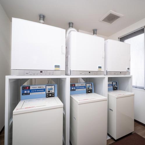 洗濯機・乾燥機を各3台ご用意しております