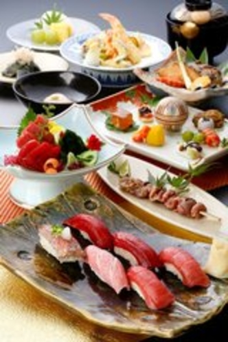 【福鮨】天然近海生黒まぐろコース。料理長おすすめのコースです。