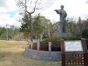 八景水谷公園の加藤清正像