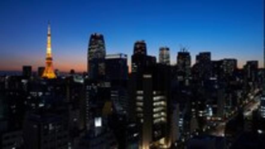 高層階からの夜景 東京タワー方面