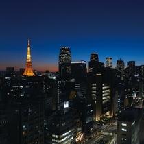 高層階からの夜景東京タワービューがおすすめ