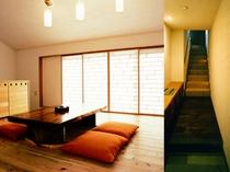 【BVLGARIアメニティ付客室】お部屋の中には階段がございます。ご予約の際はご注意ください