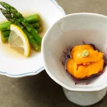 料理一例 ウニアスパラ