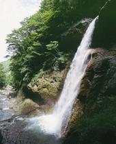 須坂からの道中にある『雷滝』
