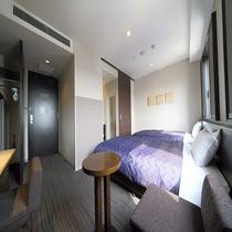 【デラックスツインルーム(24㎡)】120cm幅のシモンズベッドを設置