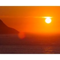 いつまでも心に残る..夕陽