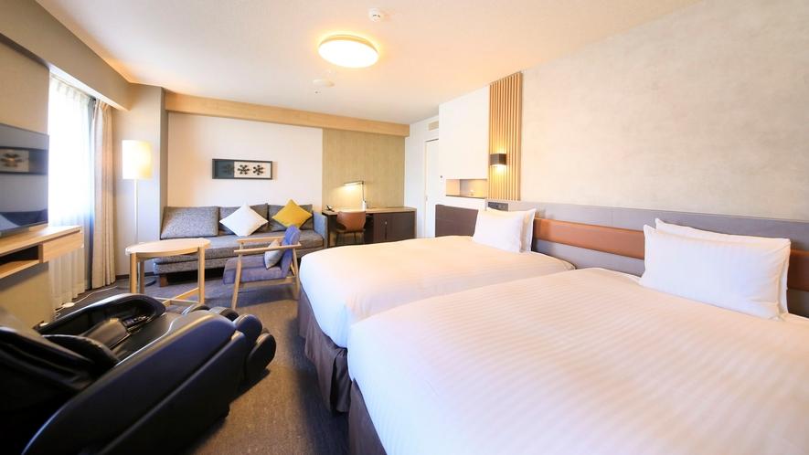 ■ツインルーム 34.7㎡ 122cm幅ベッド2台