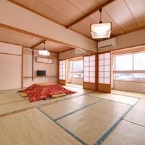 *和室14畳(客室一例)/グループでのご宿泊におすすめ!団欒のひと時をお過ごし下さい。