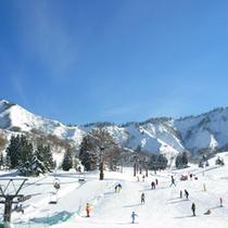 *周辺の風景<冬:中里スキー場>