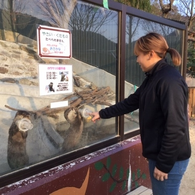 ◆動物とふれあい体験!『自由すぎる動物園』で大人気♪しろとり動物園入場券付プラン〜さぬき会席〜