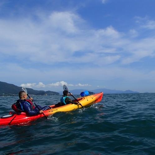 ◆津田湾を海上散歩!シーカヤック体験付プラン