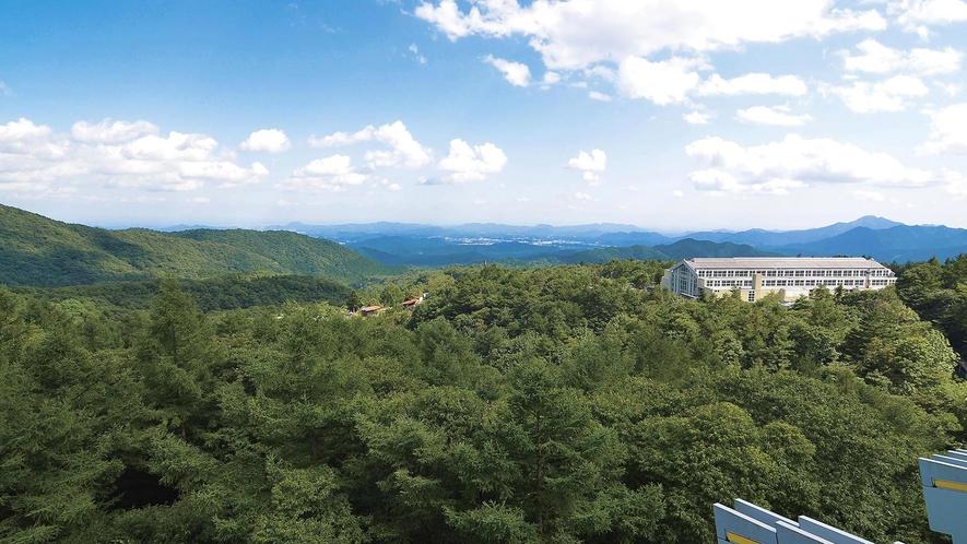 日光の山々を標高1000mから眺めることができます。
