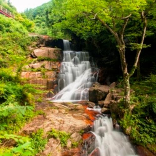 『深山峡』7つの滝に代表される変化に富んだ景勝がわずか1000mの短い区間に連なっています。