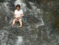 竜門の滝 滝滑り