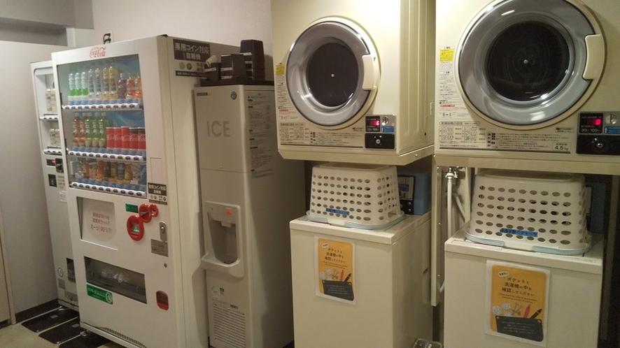 14Fランドリー室☆自動販売機・製氷機・電子レンジ設置しております☆