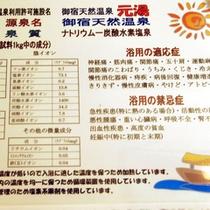 黒湯_温泉成分表