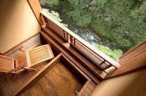 五百川渓流沿い 檜デザインの露天風呂付客室 蔵王