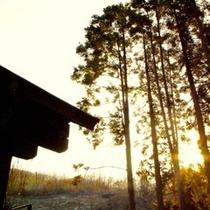 敷地から絶景の朝模様